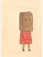 Image result for paper bag over head